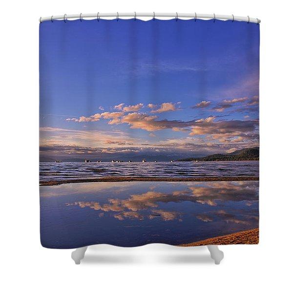 Lake Tahoe Evening Shower Curtain