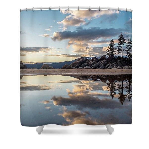 Lake Tahoe Mirror Shower Curtain