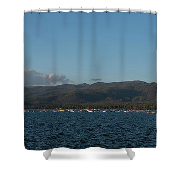 Lake Tahoe Panorama Shower Curtain