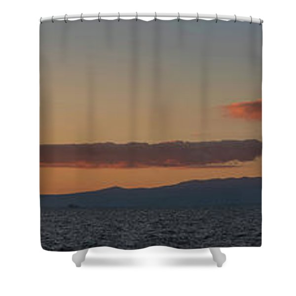Lake Tahoe South Shore Panorama - 1 Shower Curtain