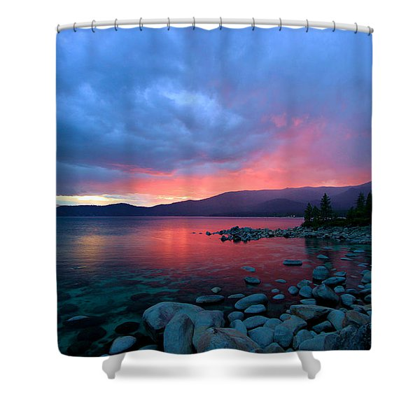 Lake Tahoe Sunset Shower Curtain