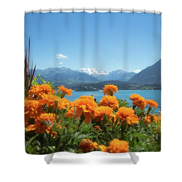 Lake Thunersee Shower Curtain