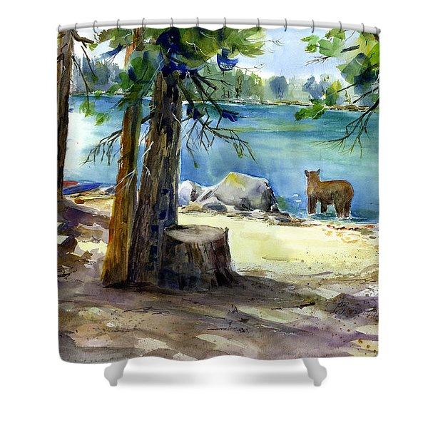 Lake Valley Bear Shower Curtain