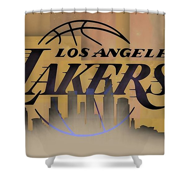 Lakers Skyline Shower Curtain
