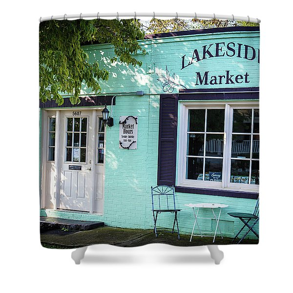 Lakeside Market Shower Curtain