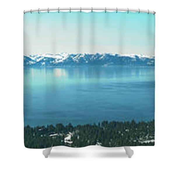 Laketahoe Panorama Shower Curtain