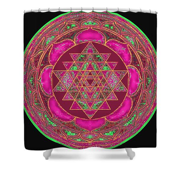 Lakshmi Yantra Mandala Shower Curtain