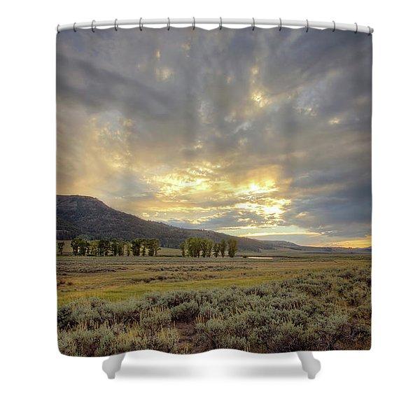 Lamar Valley Sunset Shower Curtain