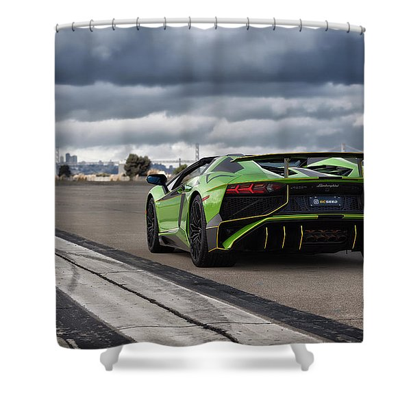 #lamborghini #aventadorsv #superveloce #roadster Shower Curtain