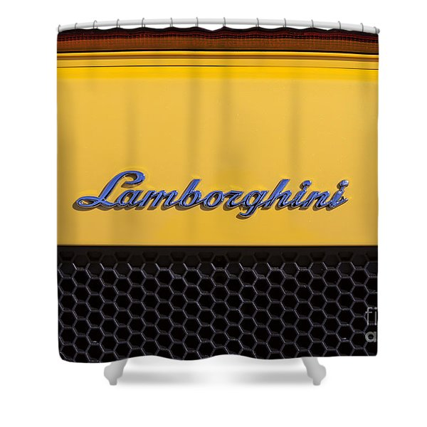 Shower Curtain featuring the photograph Lamborghini by David Millenheft
