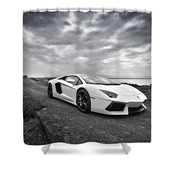 Lamborgini Aventador Shower Curtain