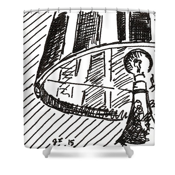 Lamp 1 2015 - Aceo Shower Curtain