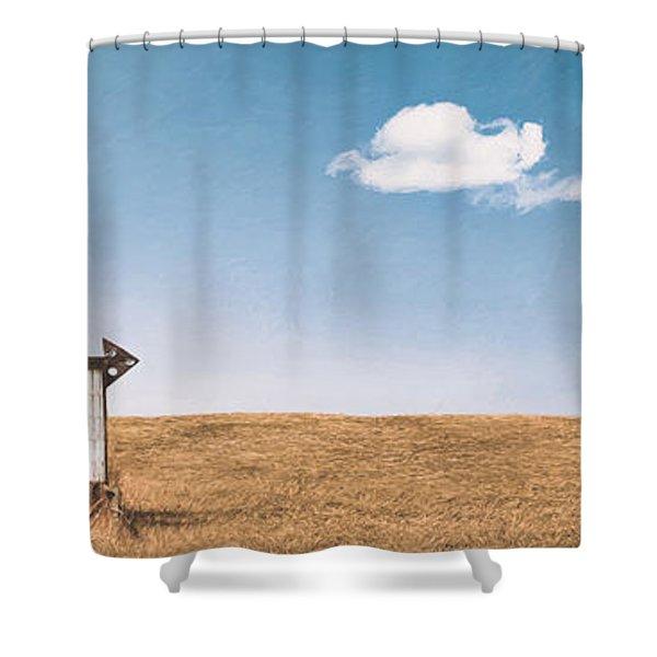 Lamp-lite Motel Shower Curtain