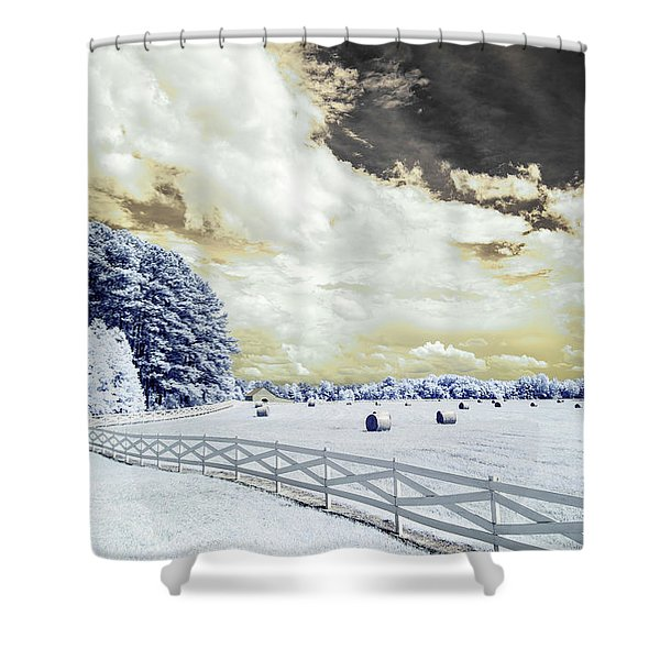 Lancaster Farm In Ir Shower Curtain