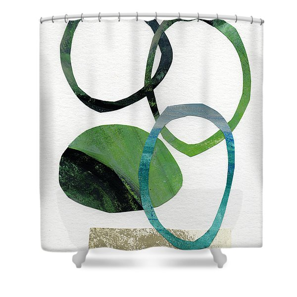Land And Sea- Abstract Art Shower Curtain