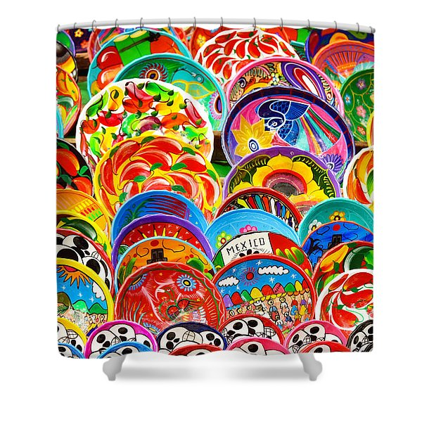 Land Of Brilliant Color Shower Curtain