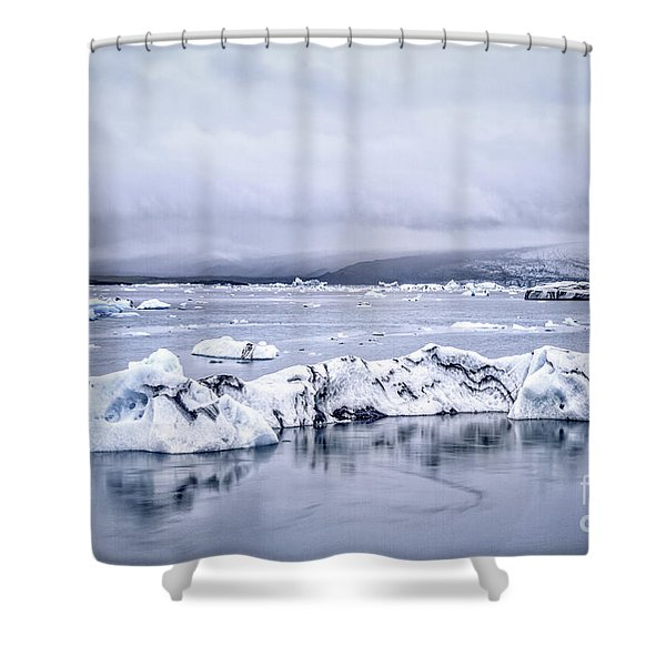 Land Of Ice Shower Curtain