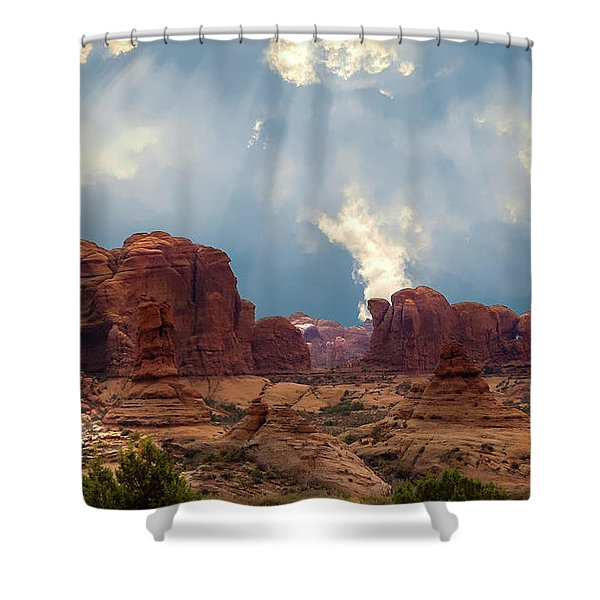 Land Of The Giants Shower Curtain