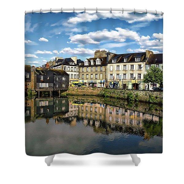 Landerneau Village View Shower Curtain