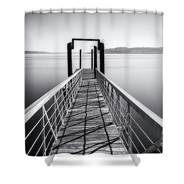 Landing Dock Shower Curtain