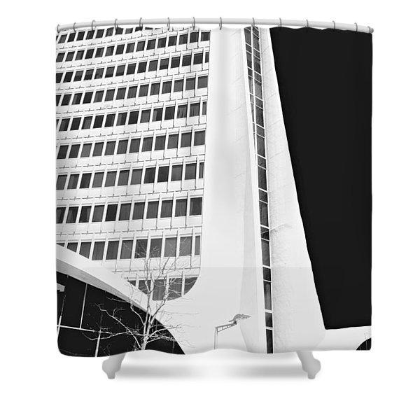 Landmark Square Facade Shower Curtain