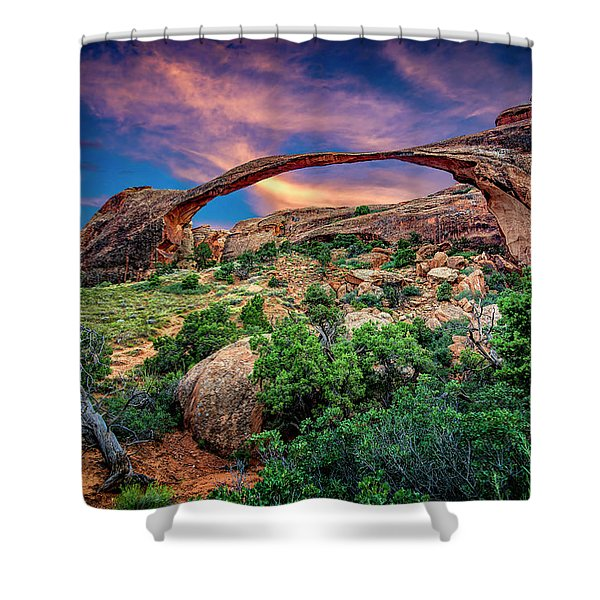 Landscape Arch At Sunset Shower Curtain