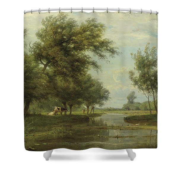 Landscape At Alblasserdam Shower Curtain