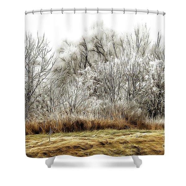 Landscape In Winter Shower Curtain
