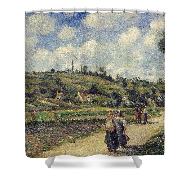 Landscape Near Pontoise Shower Curtain