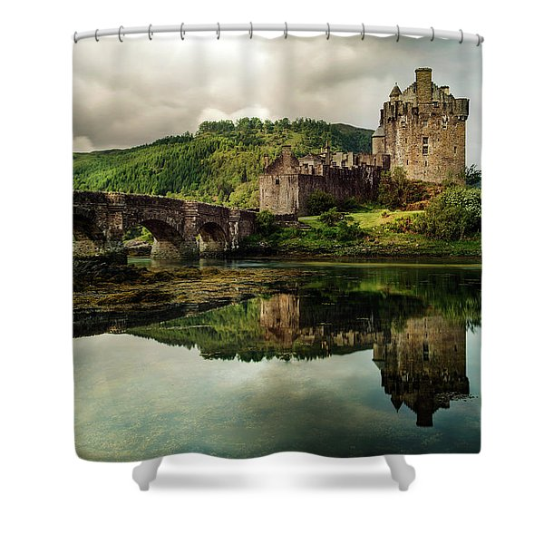 Shower Curtain featuring the photograph Landscape With An Old Castle by Jaroslaw Blaminsky