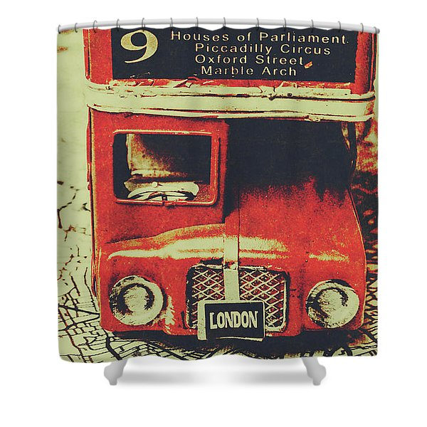 Lanes And Lines Of London Shower Curtain