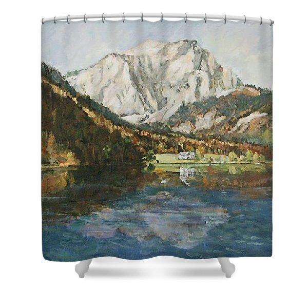 Langbathsee Austria Shower Curtain