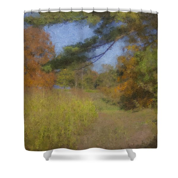 Langwater Farm Tractor Path Shower Curtain