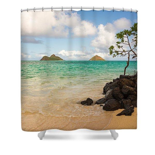 Lanikai Beach 1 - Oahu Hawaii Shower Curtain
