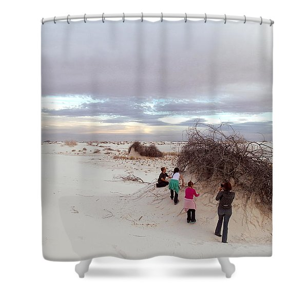 Exploring The Dunes Shower Curtain