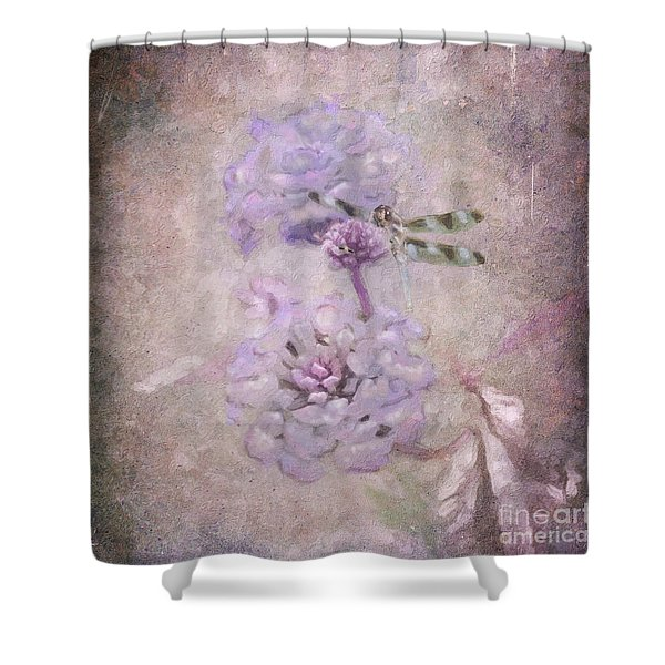 Lantana In Purple Shower Curtain