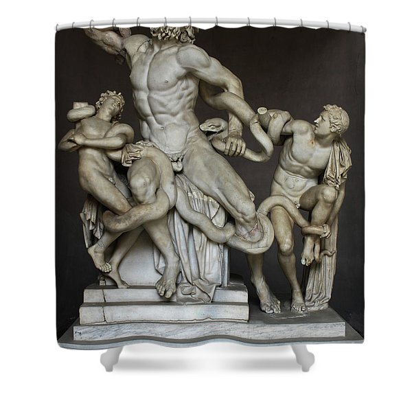 Laocoon And His Sons At The Vatican Shower Curtain