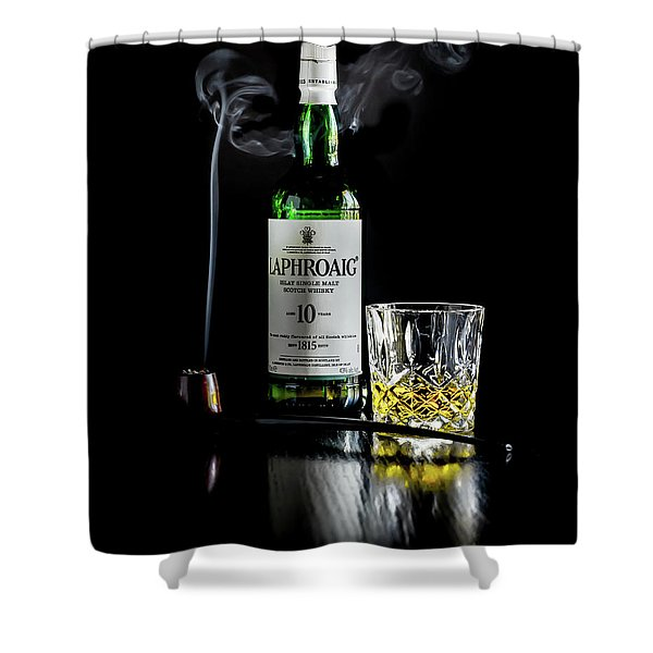Whiskey And Smoke Shower Curtain