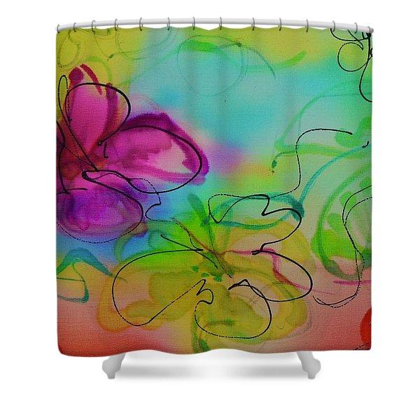 Large Flower 2 Shower Curtain