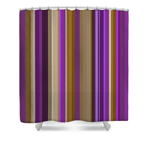 Large Purple Abstract - Three Shower Curtain