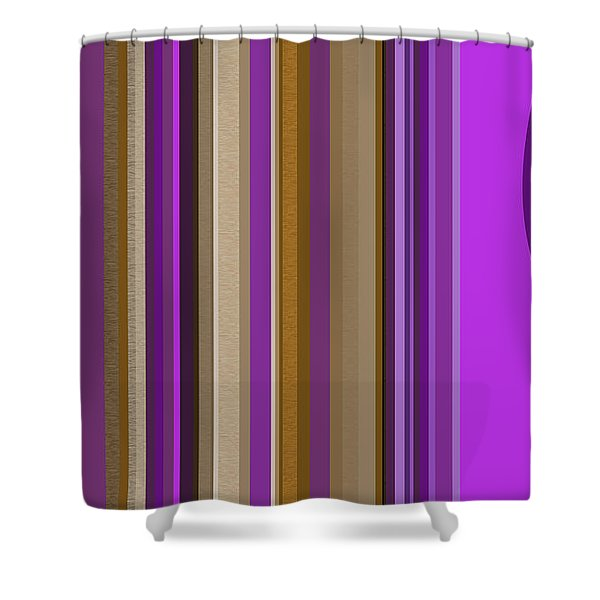 Large Purple Abstract Shower Curtain