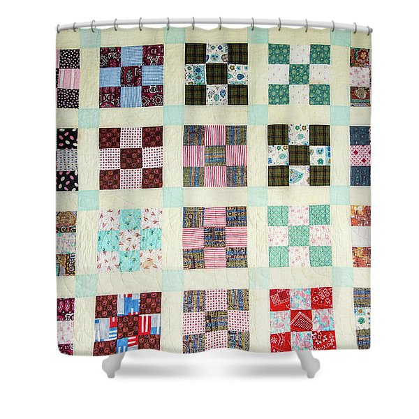 Large Quilt Shower Curtain
