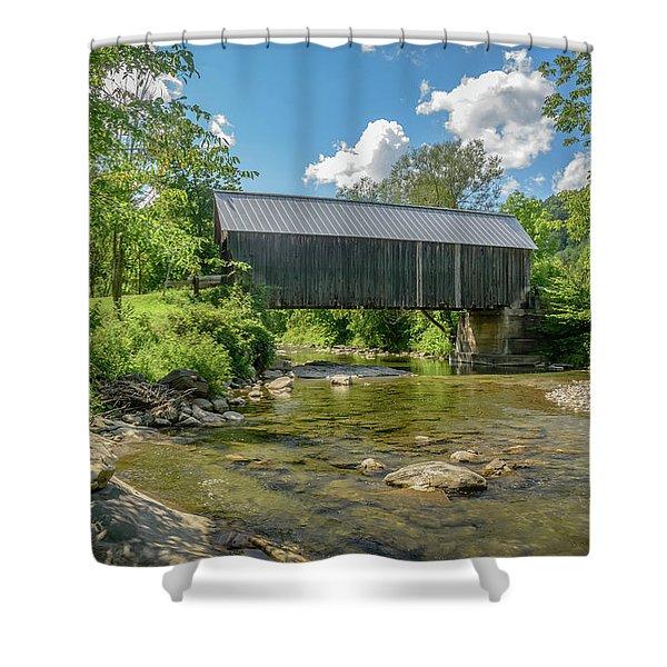 Larkin Bridge Shower Curtain