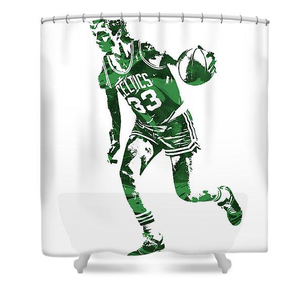 Larry Bird Boston Celtics Pixel Art 10 Shower Curtain