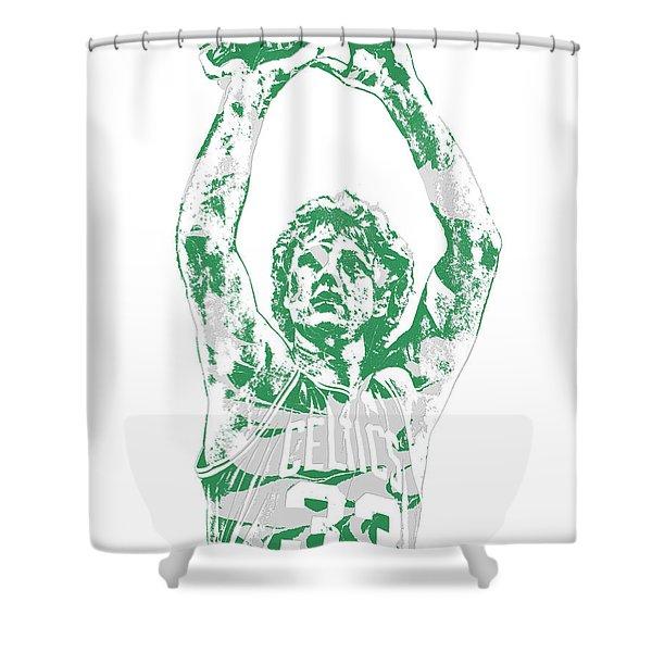 Larry Bird Boston Celtics Pixel Art 5 Shower Curtain