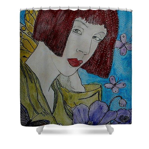 Las Adormideras Y Las Mariposas  Shower Curtain