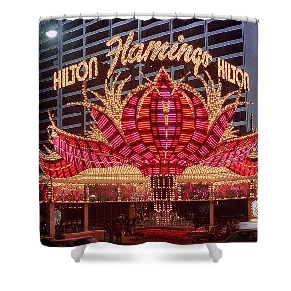 Las Vegas 1980 #8 Shower Curtain