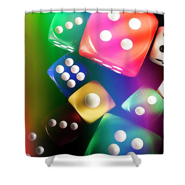Las Vegas Art Shower Curtain