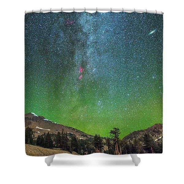 Lassen Nights Shower Curtain