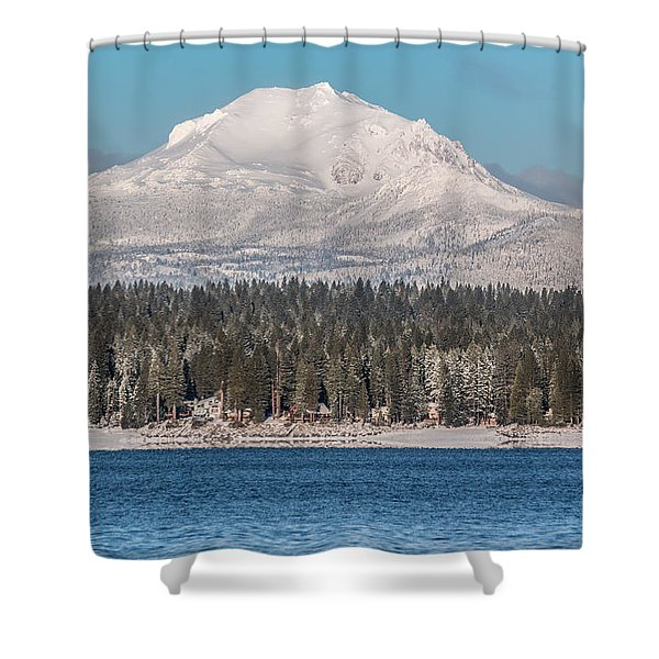 Lassen On Christmas Morning Shower Curtain
